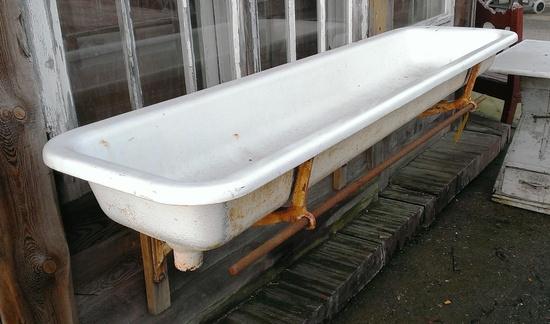 Waschbecken mit guss konsole historische bauelemente for Waschbecken konsole