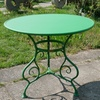 French garden table, round - green