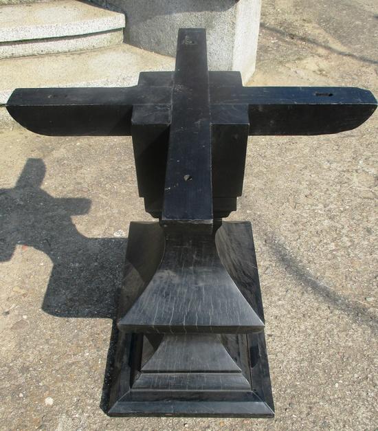 Bistro Holz Tischfuß  Tischgestell für runde wie auch eckige