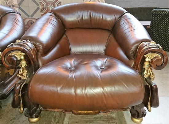 Echtleder berlin kudamm sofa sessel ca 1930 for Sessel 80 breit