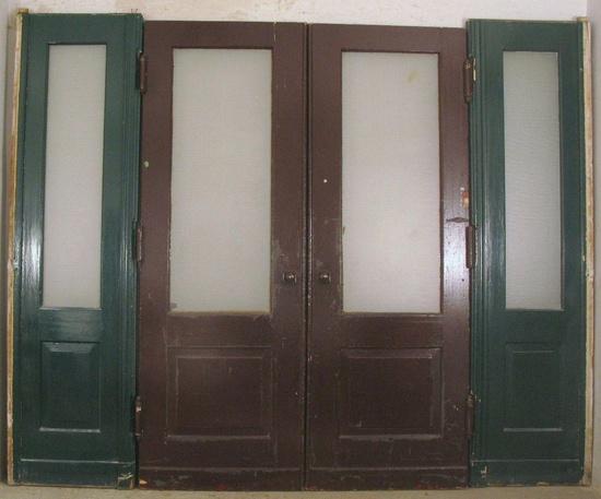 pendelt r jugendstil doppelfl gel mit linken und rechten steher ohne oberlicht historische. Black Bedroom Furniture Sets. Home Design Ideas