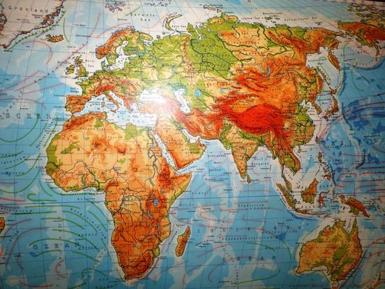 Weltkarte Originalgröße