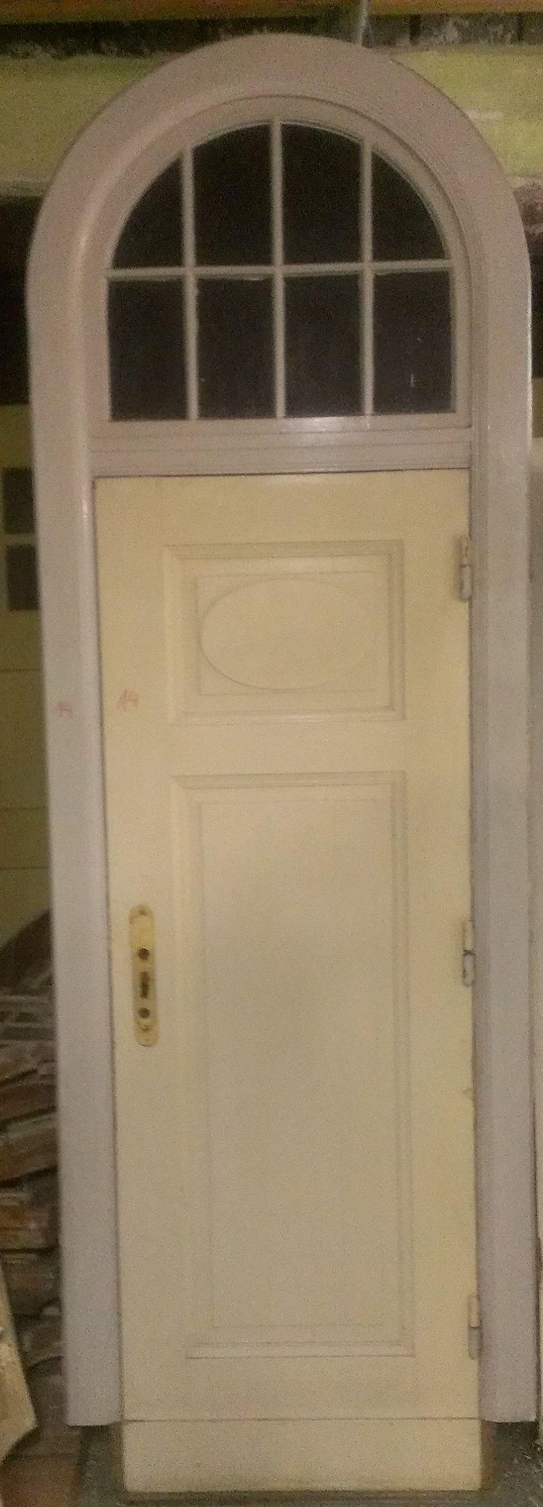 Zimmertür Jugendstil mit Rundbogen Oberlicht