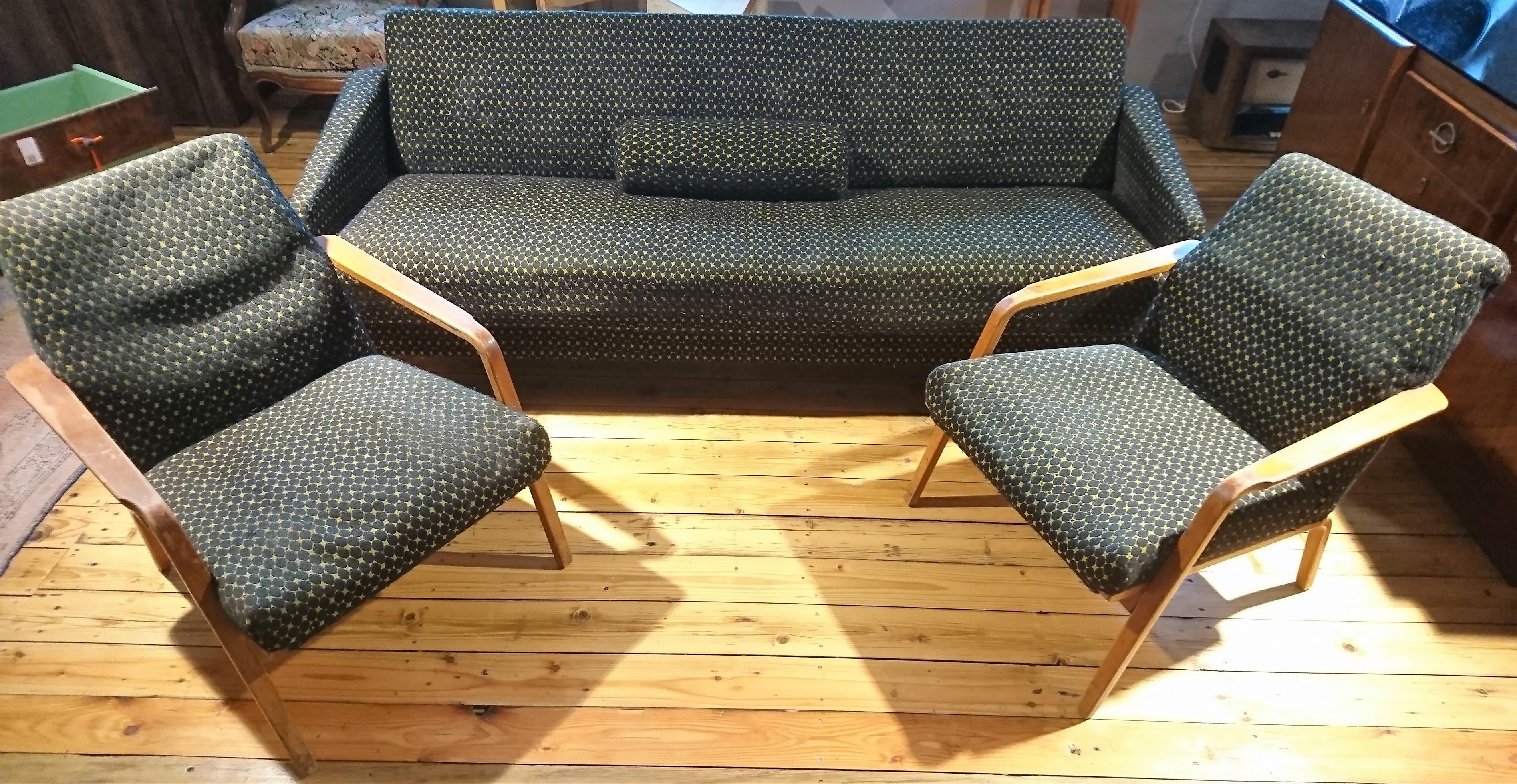 DDR Sofa 2 Sessel Historische Bauelemente