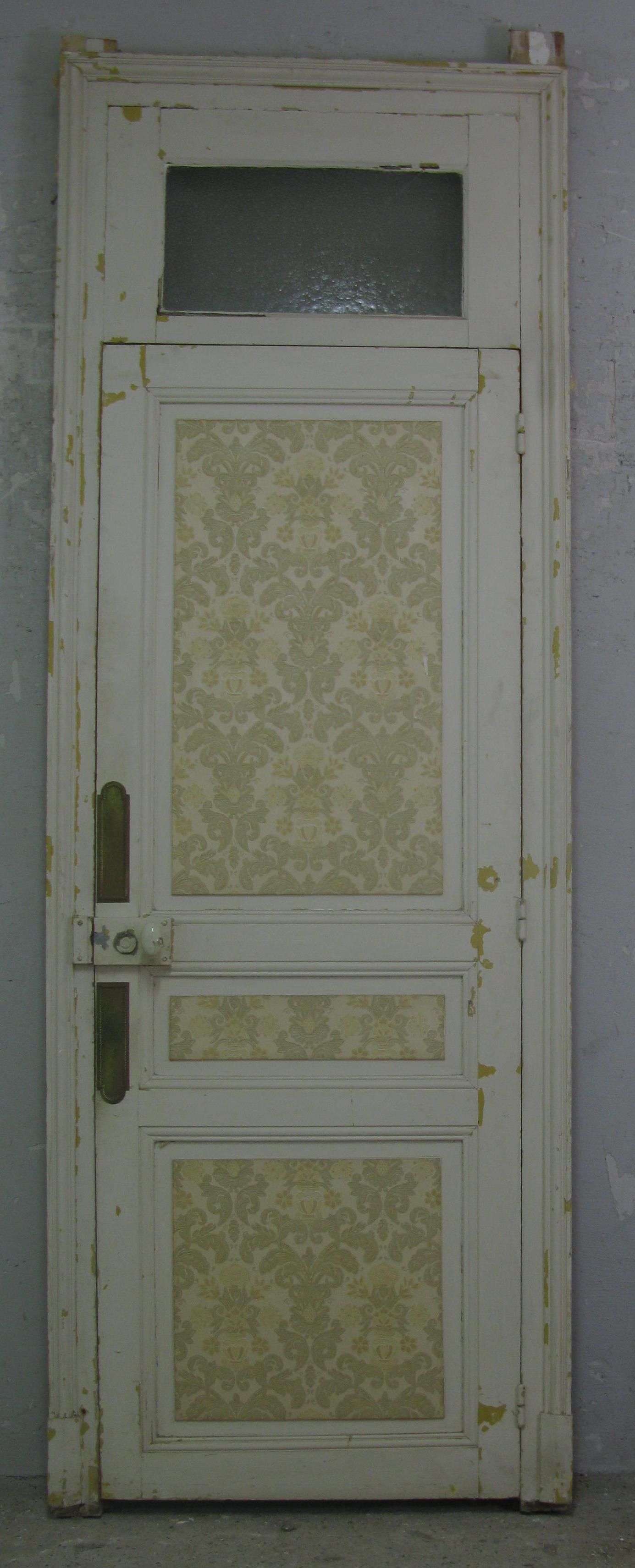 französische Zimmertür Jugendstil mit Rahmen und Oberlicht