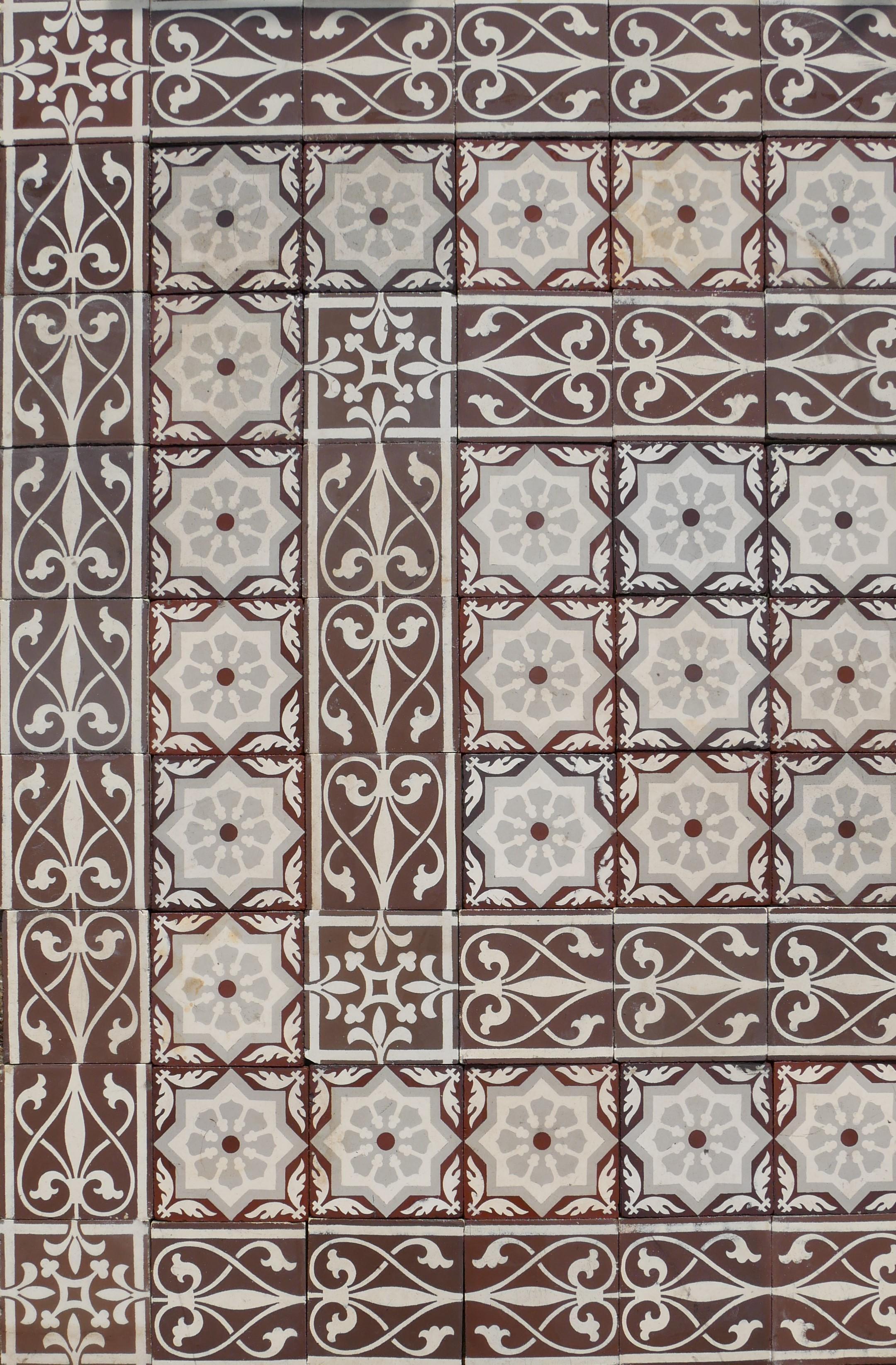 """22 m² keramik bodenfliesen """"cappuccino""""   historische"""