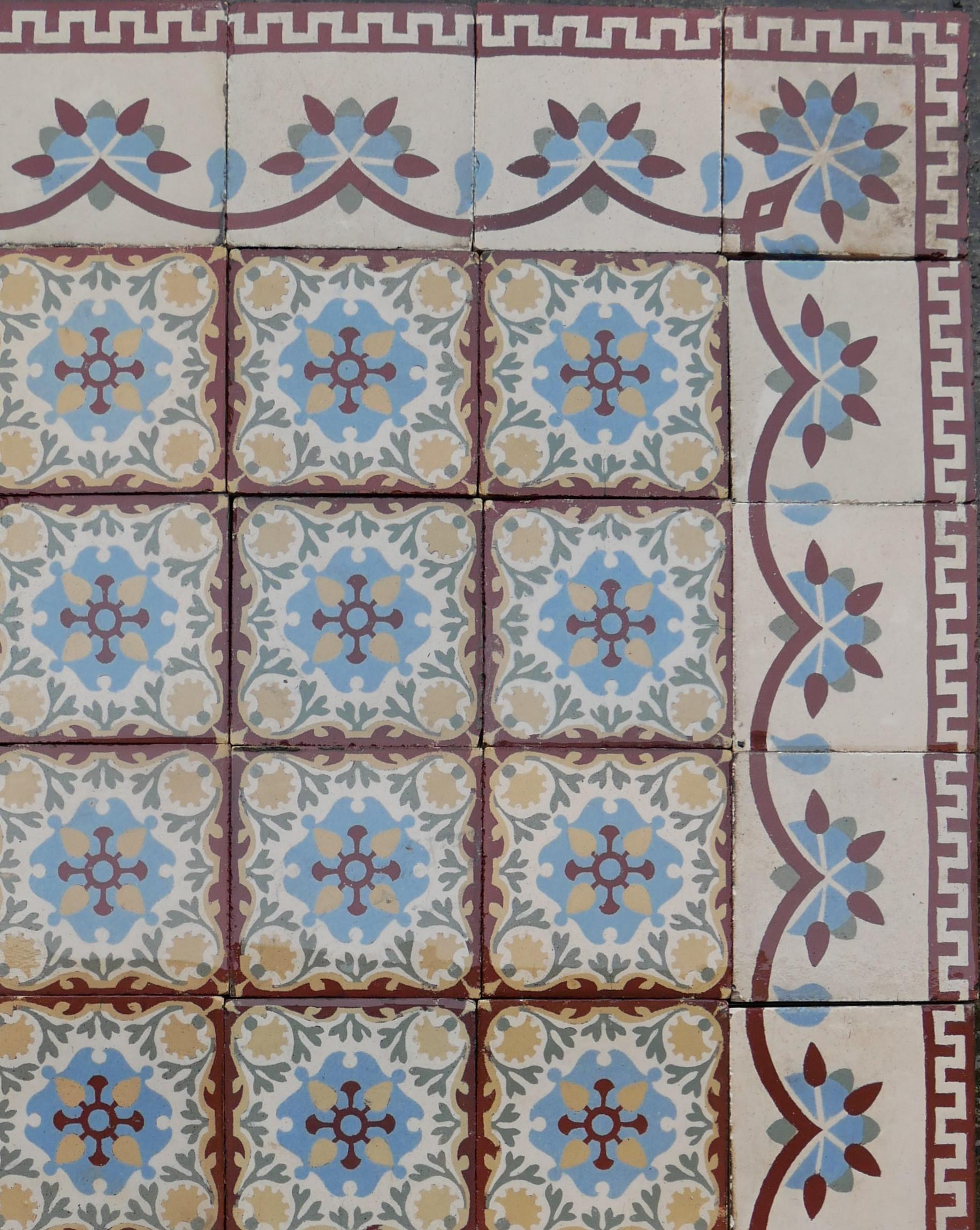 "15,7 m² keramik bodenfliesen ""escobino""   historische"